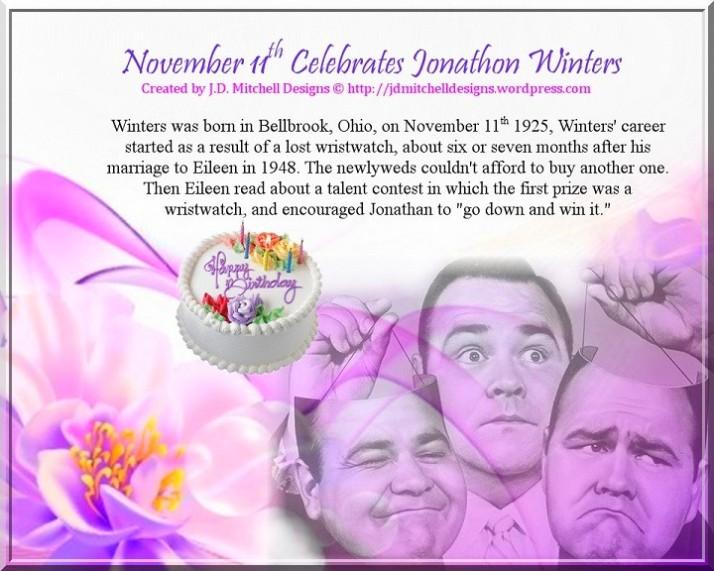 November 11th Celebrates Jonathon Winters